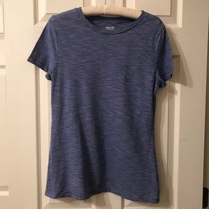 Mossimo Supply Co. Blue and White Short Sleeve Tee